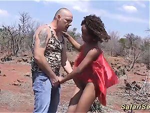 naughty african safari hookup bang-out