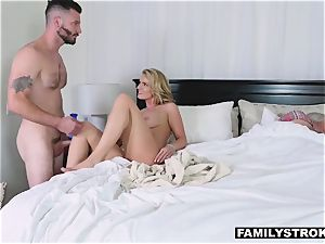 fucky-fucky starved mummy takes her step son-in-law for a quickie