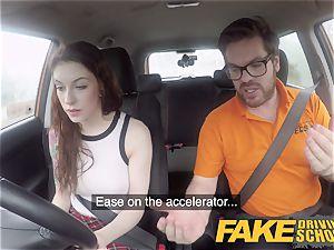 fake Driving college USA stunner Anna De Ville