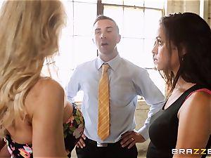 Brandi love lets ho-bo Abbey Lee Brazil boink her man