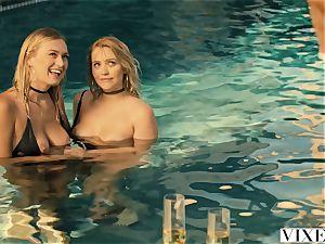 VIXEN Mia Malkova and Natalia Starr share a ample penis!!