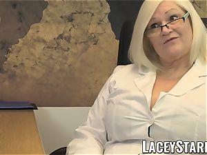 LACEYSTARR - GILF licks Pascal milky cum after fuck-fest