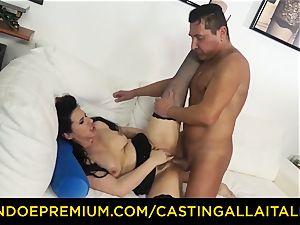 audition ALLA ITALIANA black-haired nympho harsh rectal hump
