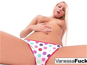 Vanessa cage Plays With Her labia