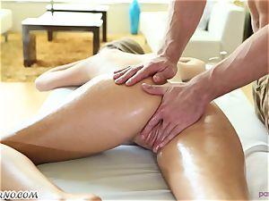masseur's weenie deep into the tight crevasses