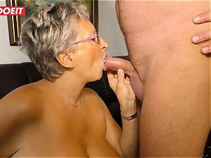 German granny enjoys plumbing her Neighbor #LETSDOEIT