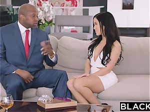 BLACKED torrid Megan Rain Gets DP'd By Her Sugar parent and His mate