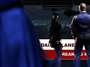 Supergirl Pt trio Bad female lesbos Riley Steele and Katrina Jade