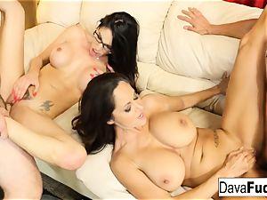 Dava and Ava drill their handymen
