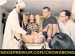 CROWD bondage obedient Amirah Adara first time domination & submission
