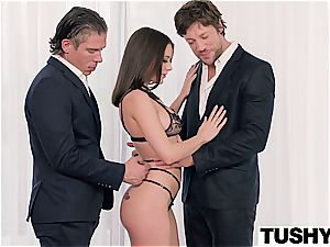 first-ever dual penetration for Lana Rhoades