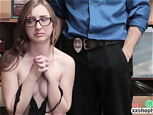 insatiable Shoplifter Gracie MayGreen gets her coochie wrecked