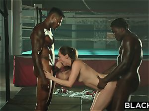 BLACKED Tori black Is greased Up And dominated By 2 BBCs