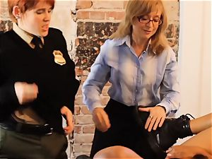 SEXYMOMMA-Ebony prison guard strapon boinked in the bootie