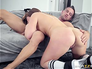 Maddy OReilly smashed rock hard by Johnnys rock hard wood