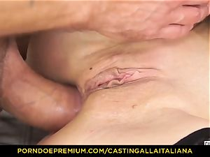 audition ALLA ITALIANA - Blue-eyed gal gets caboose torn up