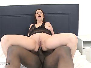 interracial hard-core mature bootie smashed cum-shot on coochie