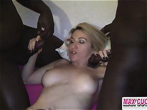maxcuckold.com ash-blonde encircled With big black cock