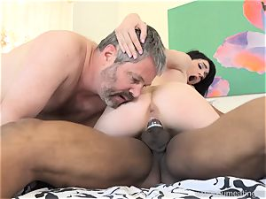 Ivy Aura humps Neighbor in Front of Her senior husband