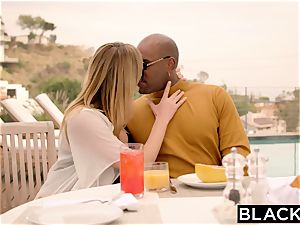 BLACKED Brett Rossi frightened From Her Ex enormous ebony manager Protects Her