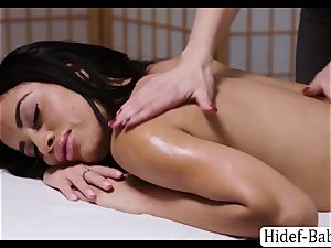 sizzling masseur Darcie Dolce rubdown Victoria obese so romantic and tongues her vag