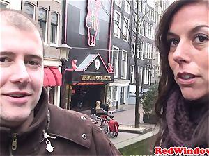Dutch escort cocksucking before doggy style