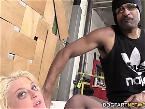 Leya Falcon Gets bum-fucked By A dangled dark-hued fellow