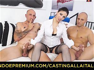 audition ALLA ITALIANA - torrid milf has double ass fucking joy