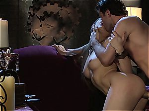 Dani Daniels implementing cogs and lollipops in her steampung desire