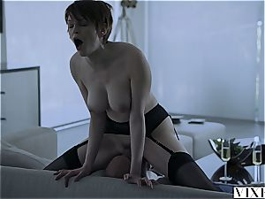 Short-haired Bree Daniels porked by dad
