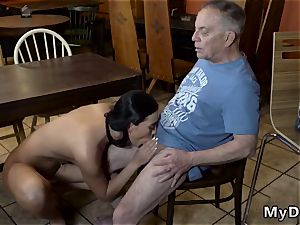 older stud nubile meaty bumpers and munching Her beau s father was giving compliments to Anna, since