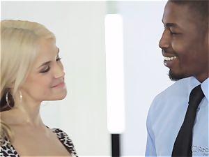 thirsty wife Sarah Vandella gets her appetite suppressed by big black cock