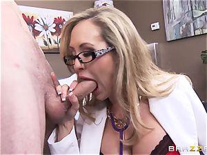 Rock stiff patient gets romped by doctor Brandi enjoy
