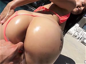 freshly wed Katrina Jade is well-lubed up and pummeled by her fresh husband