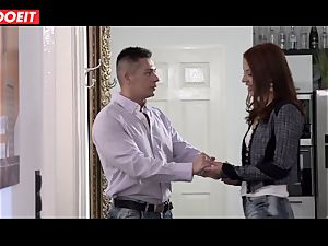 red-haired humped xxx by her sugar dad in fresh building