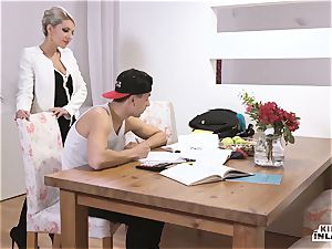 kinky INLAWS - slender Czech blonde red-hot tear up with stepson