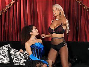Bridgette B puts torrid assistant Lana Lovelace through her paces