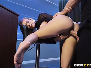 Bailey Brooke gets frolic with the dangled bouncer