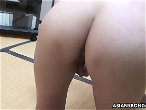 chinese sadist playthings her wooly poon while being whipped