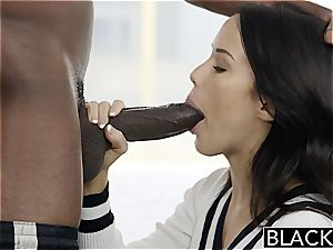 BLACKED Megan Rains first-ever practice With yam-sized ebony wood Part 1