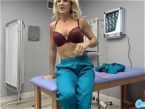 CamSoda - Nurse cougar rails faux-cock