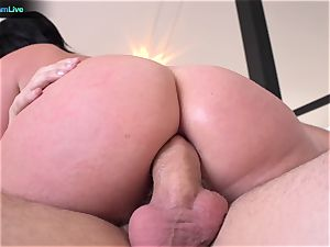 big-boobed Sophie Dee using her baps at the maximum level
