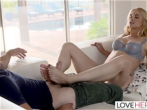 LoveHerFeet Caught wanking Off By horny Stepmom