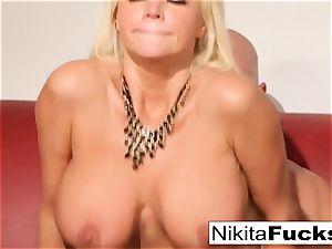 Russian mummy Nikita takes a fat penis