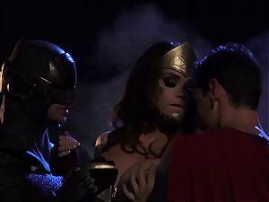 Alison Tyler humps two nasty superheroes