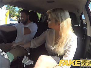 fake Driving school killer buxom posh blondie examiner
