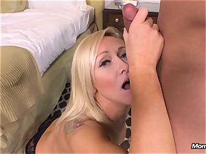 fresh blonde milf gets ass fucking pov