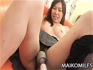 Machiko Nishizaki - crazy JAV wife boned By A Stranger