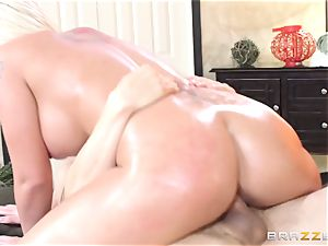 Leya Falcon cheats with her humungous dicked masseuse