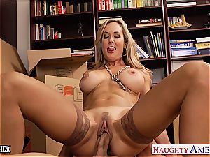 super-hot teacher Brandi enjoy gags on his ginormous pink cigar